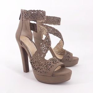 Jessica Simpson Linny Laser Cut Strappy Heels